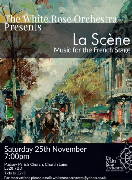 Concert Poster Music for the French stage