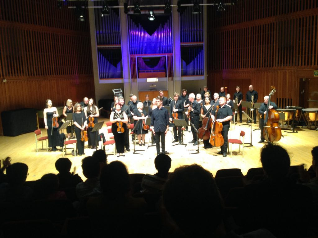 The orchestra perform in York