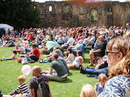 Crowds enjoy music in the sunshine at Kirkstall